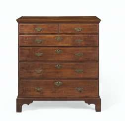 A CHIPPENDALE MAPLE CHEST-OF-DRAWERS