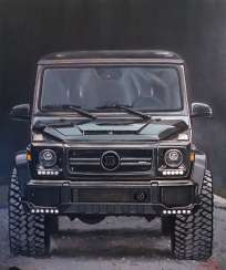 Original painting acrylic with Mercedes BRABUS