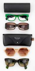 Four Designer glasses from Prada, Fendi, Tod's and Paul Smith