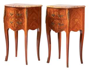 Paar pedestal tables im Stil Louis XV