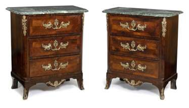 Pair of small chests of drawers in the Louis XV style
