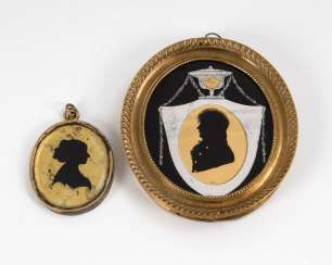 Miniature and 2-sided medallion with È