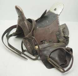 Caucasian: Cossack officer's saddle. Wood
