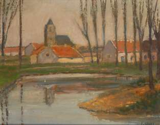 Kocks, Fred, diameter: river landscape with a town.