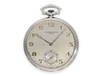 Pocket watch: exquisite platinum Frackuhr in the Breguet style,