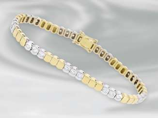Bracelet: very attractive bi-colour bracelet with brilliant-cut diamonds, approx 1ct, 18K yellow gold/white gold
