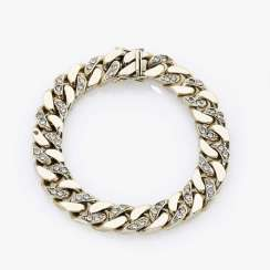 Curb bracelet with diamonds Italy