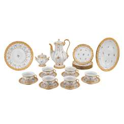 MEISSEN Prunk-coffee service for 6 persons X-shape', 20. Century.