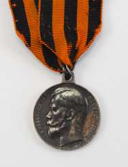 Russia: medal for bravery, Nicholas II, in silver, 4. Class.