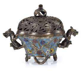 Incense Burner, Cloisonne