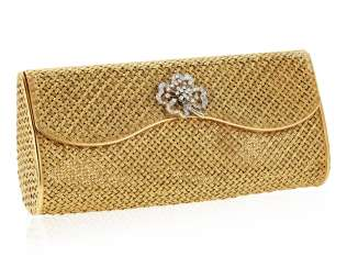 DIAMOND AND GOLD EVENING BAG