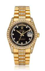ROLEX, DAY-DATE, 18K GOLD & DIAMONDS, REF. 18388