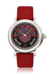 GERALD GENTA, JUMP HOUR WITH RUBY-SET DIAL, REF. RSP.X.10