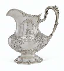 AN AMERICAN SILVER WATER PITCHER