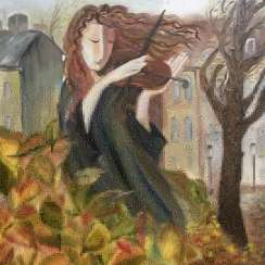 Violinist and Autumn