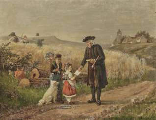 Fritz Beinke - country pastor with two children