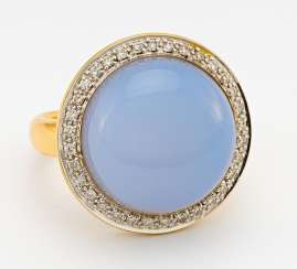 Chalcedon-Diamant-Ring