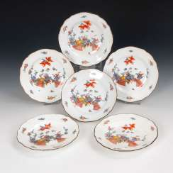 6 Dessert plates with the pattern