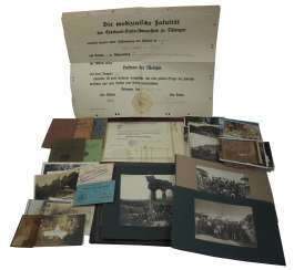 Document and photo estate of a doctor, World War II veteran who emigrated to Brazil.