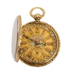 GOLDEN ORNAMENTAL POCKET WATCH