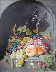 """Still life with fruit in a niche"""