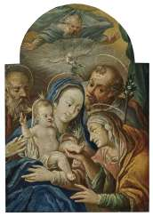 Holy Family , South German 17. Century