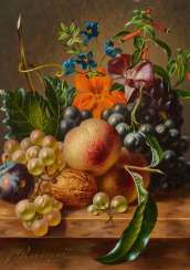 Still life with grapes and fruits
