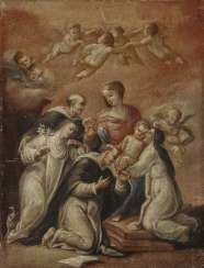 Madonna of the rosary with Dominican saints