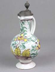 Faience narrow neck jug 18th century