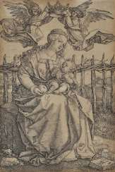 Albrecht Dürer, after - The Virgin, crowned by two angels