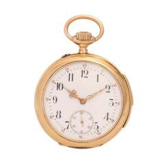Pocket watch with quarter repetition, CA. early 20's. Century Lepine-housing in 14K Gold.