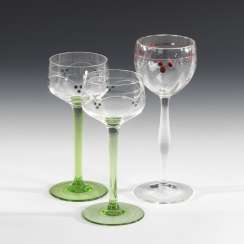 2 + 1 Art Nouveau Stems Glasses