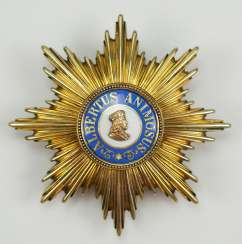 Saxony: Albrechtsorder, 2. Model (1876-1918), Golden breast star to the special stage.