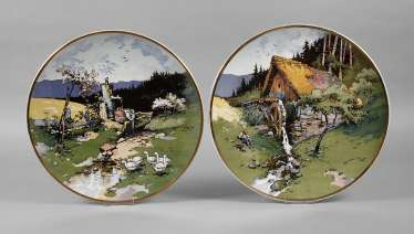 Villeroy & Boch two large wall plates
