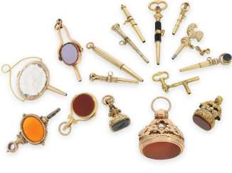 Pocket watch key: fine collection of rare, Golden spindle, watches, keys and Petschaften, CA. 1650-1850, including rarities