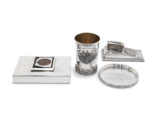GIFTS FROM THE UNITED STATES OF AMERICA:FOUR AMERICAN SILVER AND SILVER-PLATED GIFTS FROM THE US PRESIDENT, THE GOVERNOR OF ARIZONA, THE MAYOR OF SAN FRANCISCO AND THE COMMONWEALTH OF KENTUCKY