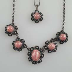 Rhodochrosite necklace and pendant