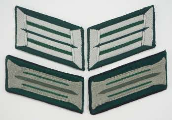Wehrmacht: Pair of collar tabs for officers and men of the hunter troop.