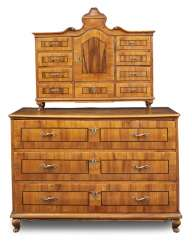 Baroque chest of drawers, and attachment