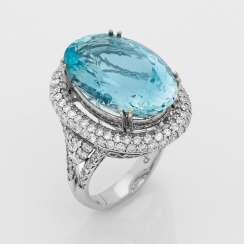 High-Quality Aquamarine Ring