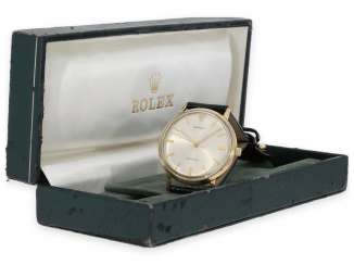 Watch: vintage Rolex oyster Royal Precision men's watch Ref. 9708 in rare 18K gold version with original box, built in 1959