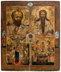 *Saint Nicholas, Saint Charalampios, the mother of God