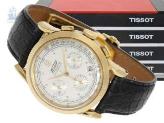 Watch: luxurious, very rare, heavy Golden Tissot Heritage anniversary Chronograph,