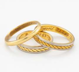 Group Of Three Gold Rings