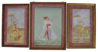 Three Miniature Paintings,