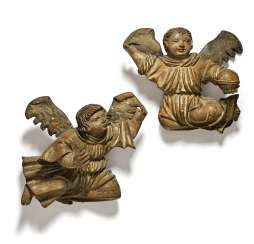 A Couple Of Angels, Swabia, In The Middle Of 16. Century