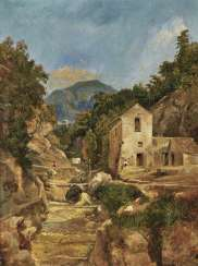Italian landscape (deep valley of the mills from Amalfi)