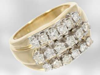 Ring: gelbgoldener vintage diamond ring, ca. The 0.9 ct, 14K Gold