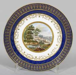 Rare view plate with landscape decoration