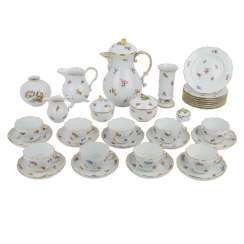 MEISSEN coffee service for min. 8 persons, 19./20. Century